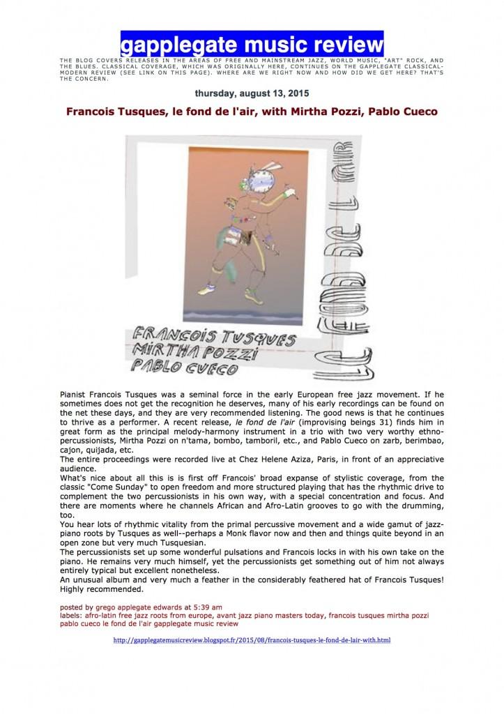 Chronique CD Le fond de l'air (Tusques:pozzi: Cueco) by Grego Applegate Edwards - copie