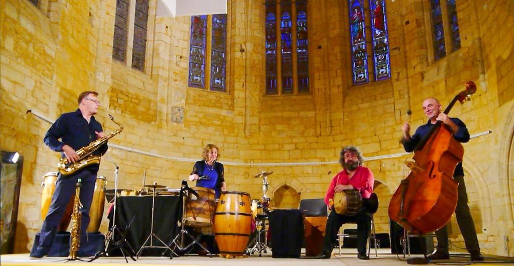 WIXEX quartet, Rencontre du Dup Mirtha Pozzi & Pablo Cueco avec deux musiciens  de Minneapolis-Saint Paul : Nathan Hanson (saxs) & Doan Brian Roessler (contrebasse).